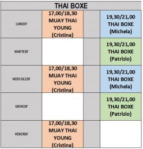 THAI BOXE 2016-2017