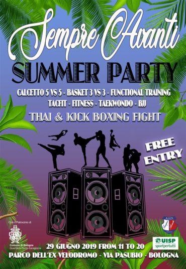 Summer party Sempre Avanti 29 giugno