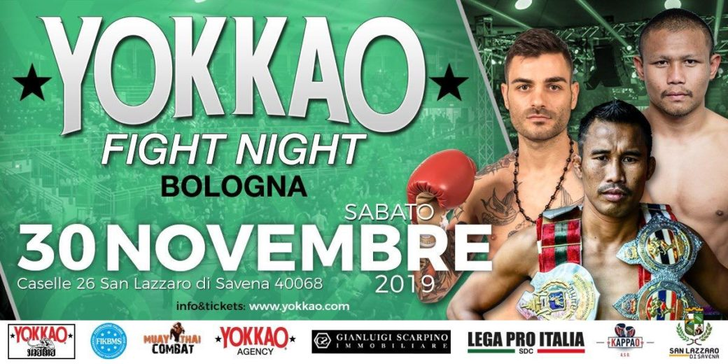 Yokkao Fight Night 30 Novembre 2019 Sempre Avanti
